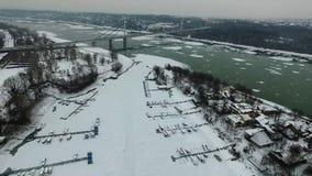 Zamarznięty Danube zdjęcie wideo