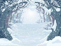 Zamarznięty las royalty ilustracja
