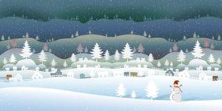 Zamarznięty las z pięknym zima krajobrazem royalty ilustracja