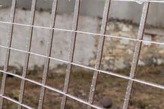 Zamarznięty metalu grille po wśliznąć na lodzie obrazy stock