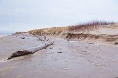 Zamarznięty morze bałtyckie i śnieg Zaludnia i zimna pogoda Podróży fotografia 2019 obrazy royalty free