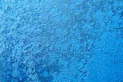 Zamarznięty nadokienny dekoraci ramy wzór lód kwitnie teksturę Zimy wciąż życia fotografia zakończenie, płytka głębia zdjęcie royalty free
