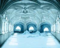 Zamarznięty pałac tło Obraz Stock