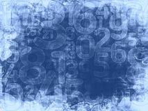 Zamarznięty przypadkowych liczb tło lub tekstura Zdjęcia Royalty Free