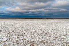 Zamarznięci lodowi bloki w morzu fotografia stock