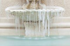 Zamarznięta fontanna Obrazy Stock