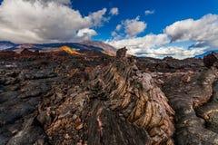 Zamarznięta lawa Tolbachik wulkan, Kamchatka Zdjęcie Royalty Free