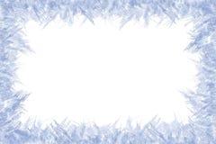 Zamarznięta rama na whited tle zdjęcia royalty free