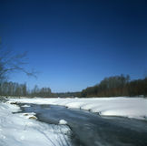 zamarznięta rzeka Fotografia Royalty Free