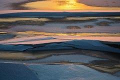 Zamarznięta rzeka przy puszkiem Obraz Stock