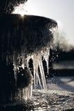 Zamarznięta wodna fontanna makro- Obraz Royalty Free