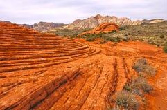 Zamarznięte piasek diuny w pustyni Zdjęcie Stock