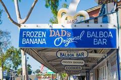 Zamarznięty banana stojak w balboa wyspie Zdjęcie Royalty Free