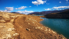 Zamarznięty Busko jezioro Obraz Stock