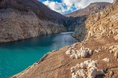 Zamarznięty Busko jezioro Zdjęcia Royalty Free