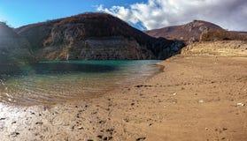Zamarznięty Busko jezioro Zdjęcie Stock