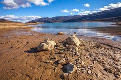 Zamarznięty Busko jezioro Fotografia Royalty Free