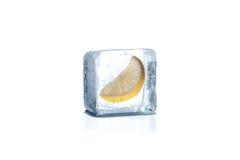 Zamarznięty cytryna plasterek Fotografia Stock