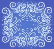 zamarznięty deseniowy okno zdjęcia royalty free
