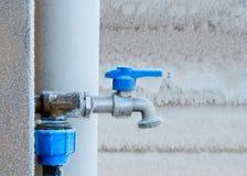 Zamarznięty faucet w zimie Fotografia Stock