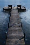 zamarznięty jeziorny molo Obrazy Royalty Free