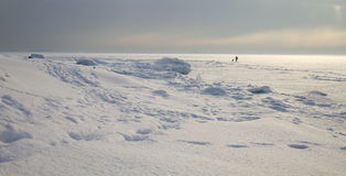 zamarznięty lodowy odprowadzenie Zdjęcie Stock