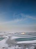 Zamarznięty morze Zdjęcia Royalty Free