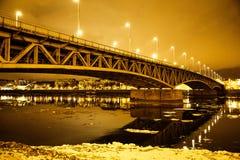 Zamarznięty most obraz royalty free