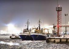 Zamarznięty port Zdjęcia Royalty Free