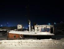Zamarznięty port Zdjęcie Royalty Free