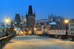 zamarznięty Prague Fotografia Royalty Free