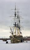 zamarznięty rzeczny statek Fotografia Stock