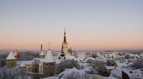 zamarznięty stary Tallinn Obraz Royalty Free