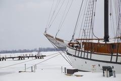 Zamarznięty Tallship Obraz Royalty Free