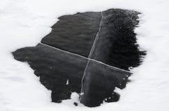 Zamarznięty Tornetrask jezioro w szwedach Lapland Fotografia Royalty Free