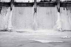 Zamarznięty wodny lodowy spadek Obrazy Stock
