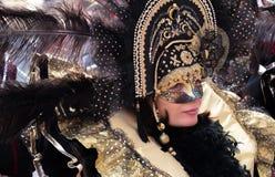 Zamaskowana dama przy Wenecja Obrazy Stock