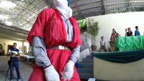 Zamaskowane jednostki tanczy na ślubnej sala zbiory wideo