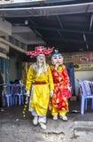 Zamaskowani tancerze przy Quy Nonh Zdjęcie Royalty Free