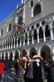 zamaskowani wykonawcy Venice Obrazy Royalty Free