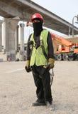 zamaskowany pracowników budowlanych zdjęcia royalty free