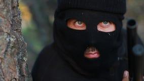 Zamaskowany terrorysta zdjęcie wideo