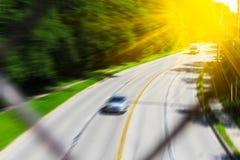 Zamazana autostrady scena Zdjęcie Stock