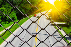 Zamazana autostrady scena Zdjęcie Royalty Free
