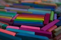 Zamazana fotografia LGBT flaga od kijów artystyczny pastel Słuzyć jako tło obrazy stock
