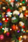 Zamazana fotografii choinka - wakacyjny tło Fotografia Royalty Free