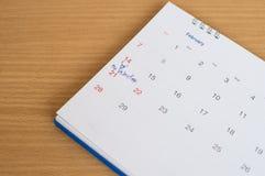 Zamazana kalendarzowa strona Zdjęcia Royalty Free