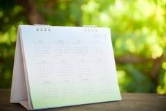 Zamazana kalendarzowa strona Obrazy Stock