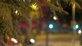 Zamazana ulica w nocy mieście zdjęcie wideo