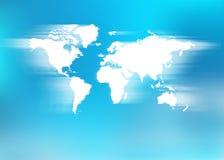 Zamazana światowa mapa Fotografia Stock